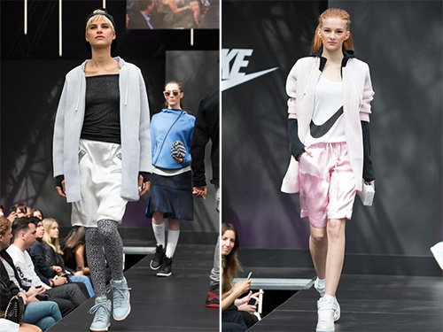 Nike T台show,运动少女风来袭